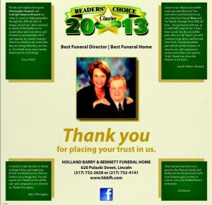 Reader's Choice 2013 - Best Funeral Director | Best  Funeral Home